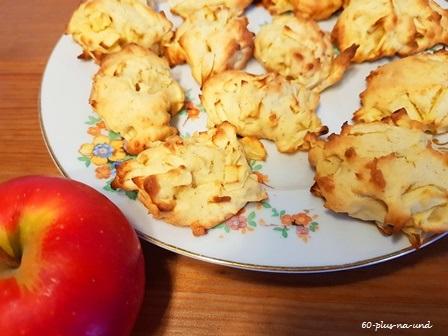 Kleine leichte Apfelkekse